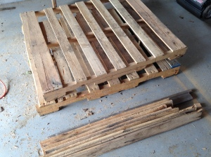 pallets and separated boards