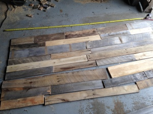 Laying out the headboard to size.