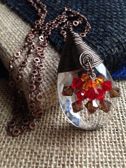 Chandelier Crystal Necklace | hotpinktoolbox